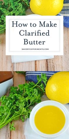 This clarified butter recipe shows you How to Make Clarified Butter in only 10 minutes or less! It's the perfect sauce to pair with seafood! Geklärte Butter, Clarified Butter, Butter Recipe, Vegan Butter, Seafood Appetizers, Appetizer Salads, Seafood Boil, Crab Dishes, Canned Blueberries