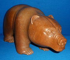 """Item # S12038 Price: C$4,950  Subject: Link   Bute Bear Dated: 2011 - Signed Artist: Campanella, Aurelio      Community:  Maple Ridge, BC       Size: inches/cm 10"""" x 20"""" x 7.75"""" 25.4 cm x 50.8 cm x 19.7 cm"""