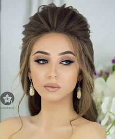 Simple and elegant makeup - Haare - Elegant Hairstyles, Formal Hairstyles, Pretty Hairstyles, Wedding Hairstyles, Wedding Hair And Makeup, Bridal Makeup, Bridal Hair, Hair Wedding, Party Wedding