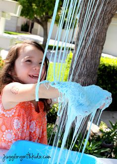 Juggling With Kids: Flubber Slime Baskets