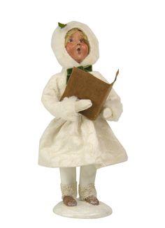 Winter Family Girl Figurine