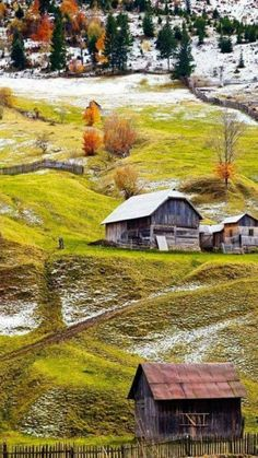 Discover Amazing Romania through 44 Spectacular Photos - Page 19 of 46 Places Around The World, Around The Worlds, Wonderful Places, Beautiful Places, Visit Romania, Romania Travel, Old Barns, Albania, Beautiful Landscapes