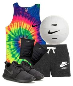 """volleyball practice tonight!!"" by reaw ❤ liked on Polyvore featuring NIKE"