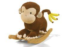 Mocha Monkey Rocker >> Super cute rocking chair!