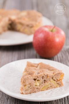 Gesunder Apfelkuchen ohne Ei, Zucker, Butter