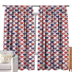Vermilion Chinese Style Short Half Curtain Living Room//Bedroom Valance