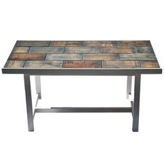 Items similar to Pallet tiled coffee table on Etsy Tiled Coffee Table, Diy Coffee Table, Welding Projects, Pallet Projects, Wood Pallets, Pallet Wood, Dining Bench, Creations, Diy Crafts