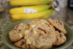 Banana Nut Cookies with White Chocolate Chips-everyone loved these!