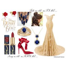 Beauty and the Beast by itstessamessa on Polyvore