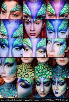 Mythical Mermaid/Fairy Creature Makeup Transformation – Glam Express