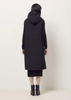 Rick Owens D RK SH D W Sleeveless Hooded Liner Coat (Black)