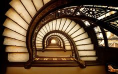 Rookery building staircase, Frank Lloyd Wright