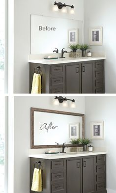 Frame The Bathroom Mirror In Minutes With MirrorMate.