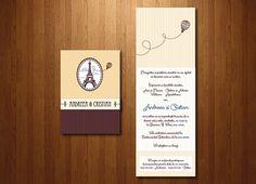 Invitație cu iz franțuzesc format A6 (10.5x15 cm) și închidere cu bandă de hârtie.