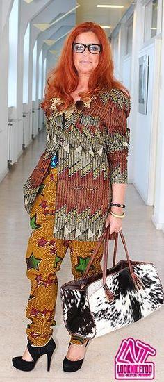 #LadyAfrica African Inspired Fashion & Accessory look: Vlisco print DutchWax waxhollandais