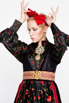 FANTASISTAKKER - Eva Lie Design ASEva Lie Design AS Tribal Dress, Wedding Costumes, Europe Fashion, Folk Fashion, Folk Costume, Embroidery Dress, Festival Wear, Traditional Dresses, Scandinavian Design