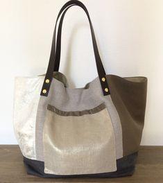 Grand sac cabas de créateur Camille Valère. Pièce unique
