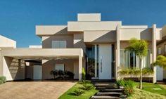 fachada casa pé direito duplo