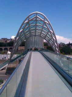 Walkway to the Tbilisi Bridge of Peace