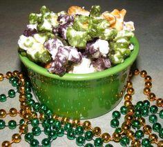 Caramel corn Mardi Gras