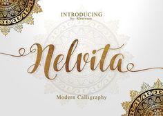 Hello everyone. Nelvita Script is a beautiful handmade script font, modern calligraphy & fresh typeface. Nelvita Script suitable for logo, branding, greeting Handwritten Fonts, Script Fonts, All Fonts, Creative Fonts, Creative Sketches, Best Free Fonts, Beautiful Fonts, Pretty Fonts, Modern Calligraphy