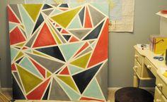 a geometric painting diy