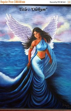 REDUCE PRICE Fine Art . Olokum Oil paintings on by thebestart1122