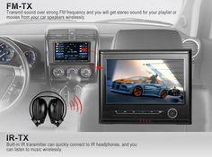 9 pouce ecran tactil Androide appuie-tête de voiture multimédia Tablet PC(Jeux FM,Wifi)