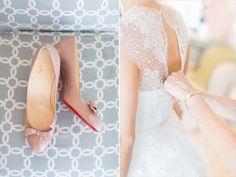 Ivory & White Bridal Boutique: Real Wedding - Jessica | Monique Lhuillier Bridal Gown @m_lhuillier