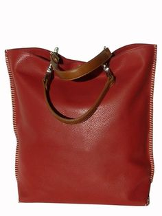 Gajumbo Tote Bag Pebble Grain Leather - Tan by IMPERIO jp