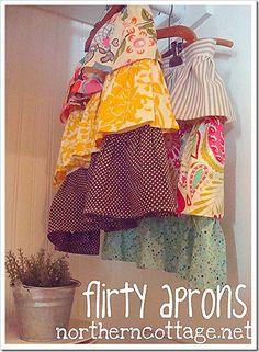 northern cottage flirty ruffle aprons