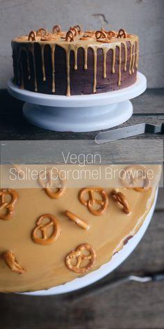 Vegan Drip Cake. Salziges Karamell trifft auf herbe Schokolade.
