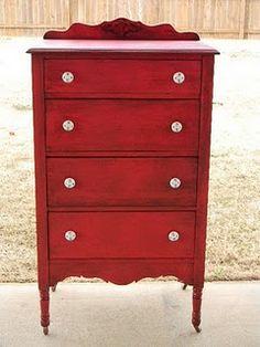 Un mueble rojo china - despues