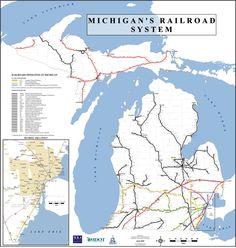 Railroad System in Michigan