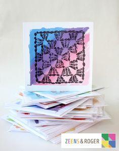 Crochet Granny Print Greeting Cards.   Etsy