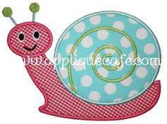 Snail 2 Applique Design