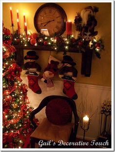 Beth over at The Stories of A to Z is having a Christmas Mantel Linky Party. She wants all of us to link-up our last year's Christmas mant. Christmas Mantels, Christmas Love, All Things Christmas, Beautiful Christmas, Winter Christmas, Christmas Stockings, Christmas Wreaths, Christmas Crafts, Christmas Ideas