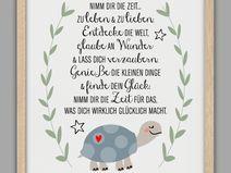 """""""FINDE DEIN GLÜCK"""" Kunstdruck, Geschenk"""