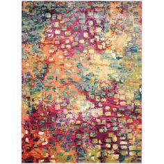 Safavieh Monaco Abstract Watercolor Pink/ Multi Rug (10' x 14')