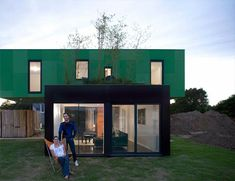 Crossbox House: Cross Shape Container Home - Prefab Homes, Shipping Container Homes, Small Houses Cargo Container Homes, Building A Container Home, Container Buildings, Container Architecture, Container House Design, Shipping Container Homes, Architecture Design, Shipping Containers, Container Shop
