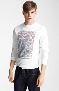 Topman 'Union Jack' Crewneck Sweatshirt | #Nordstrom #BritishStyle