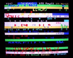 Teletext glitch art (3)                                                                                                                                                                                 More