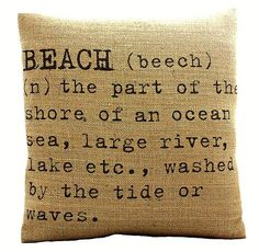 'Beach' Cushion Cover
