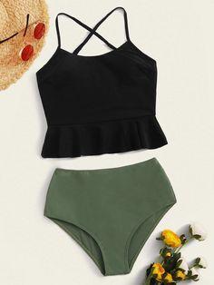 2020 Women Swimsuits Bikini Bathing Suits Girls Plus Size Swimsu – pumpkinral Bathing Suits For Teens, Summer Bathing Suits, Swimsuits For Teens, Cute Bathing Suits, Women Swimsuits, Gisele Bundchen, Cameron Diaz, Mode Du Bikini, Bikini Underwear