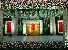 VB The Wedding Planners best in Decorating your wedding ceremony stage located in Heart of Vizag. Indian Wedding Stage, Wedding Stage Backdrop, Wedding Stage Design, Arab Wedding, Wedding Entrance, Wedding Mandap, Entrance Decor, Marriage Hall Decoration, Engagement Stage Decoration