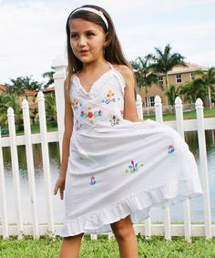 $19.99 Loving this White Sol Embroidered Halter Dress - Infant & Toddler on #zulily! #zulilyfinds