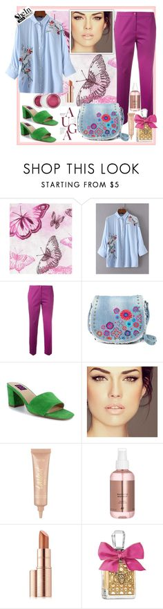 """""""Shein. FLoral Blouse"""" by natalyapril1976 ❤ liked on Polyvore featuring Etro, Steve Madden, Mojo Moxy, tarte, Estée Lauder, Juicy Couture and Clinique"""