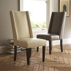 Willoughby Leather Dining Chair #WestElm