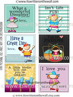 48 FREE Lunchbox Notes For Kids www.247moms.com #247moms