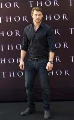 Chris Hemsworth - young enough to be my son; but beautiful to look at!